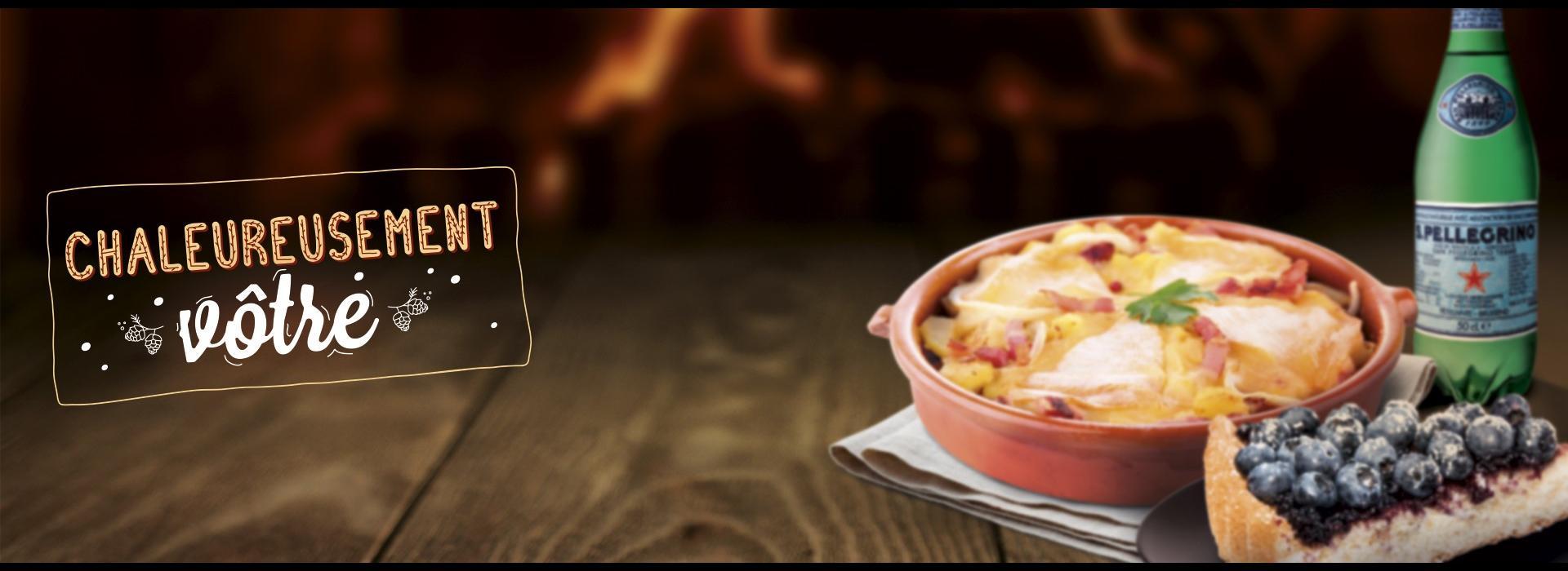 Autogrill Chaleureusement Menu Autoroute Tartiflette Hiver Gourmande Lardons Myrtilles Restaurant